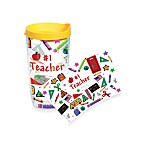 Tervis® #1 Teacher Wrap 16-Ounce Tumbler with Yellow Lid