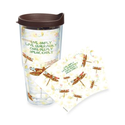 Tervis® Inspirational Dragonfly Wrap 24-Ounce Tumbler with Brown Lid