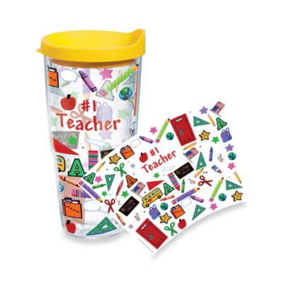 Tervis® #1 Teacher Wrap 24-Ounce Tumbler with Yellow Lid