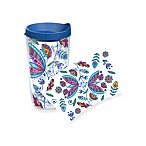 Tervis® Bohemian Flower Wrap 16-Ounce Tumbler with Blue Lid