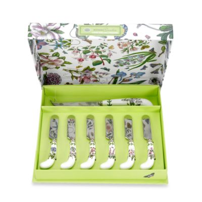 Portmeirion Botanic Garden 7-Piece Cheese Knife with Spreader Set