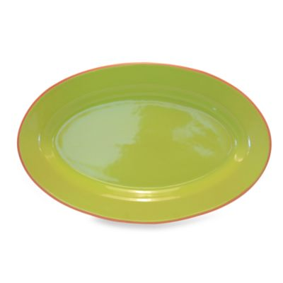 Baum Costa Del Sol 18-Inch x 11-Inch Oval Platter in Lime