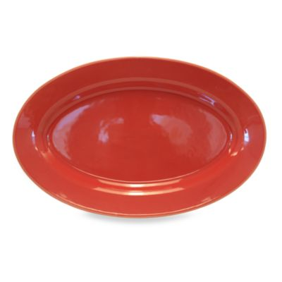 Baum Costa Del Sol 18-Inch x 11-Inch Oval Platter in Red