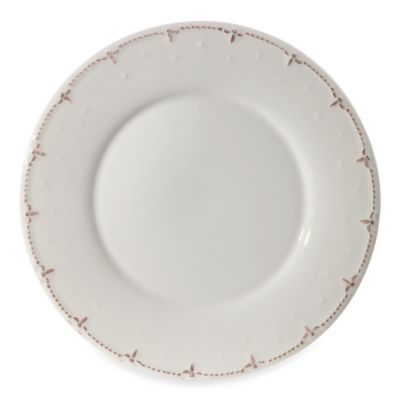 Genevieve Ivory 10 3/4-Inch Dinner Plate in Chocolate