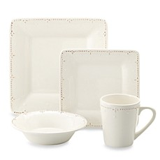 Genevieve Ivory Square Dinnerware Collection