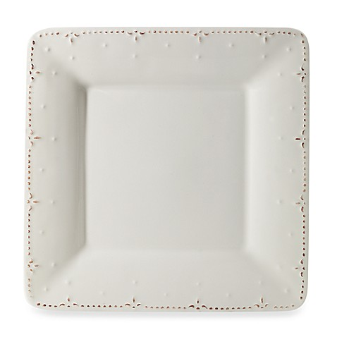 Genevieve 10 3/4-Inch Square Dinner Plate in Ivory