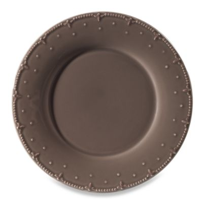 Genevieve 10 3/4-Inch Dinner Plate in Chocolate
