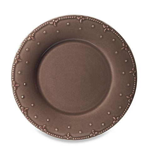 Genevieve 8-Inch Salad Plate in Chocolate
