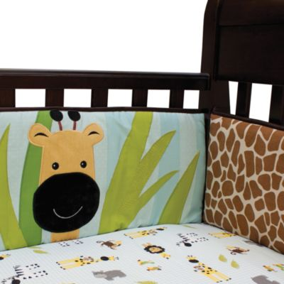 Lambs & Ivy® Peek-a-Boo Jungle Crib Bumper