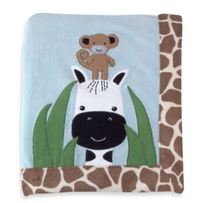 Lambs & Ivy® Peek-a-Boo Jungle Blanket