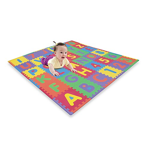 Buy Verdes Foam Abc Amp Numbers Playmat From Bed Bath Amp Beyond