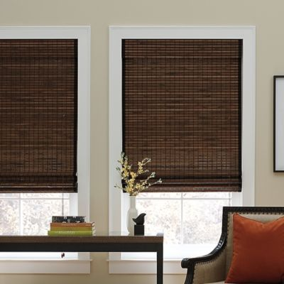 Real Simple® Natural Roman 23-Inch x 72-Inch Shade in Chocolate
