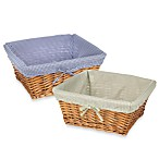 Redmon Collection Large Willow Baskets & Liners