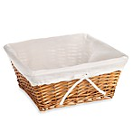 Redmon Collection Large Willow Basket Gingham Liner in White