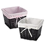 Redmon Collection Small Willow Baskets & Liners