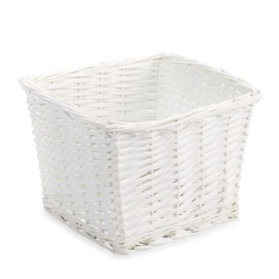 Redmon Collection Small Willow Basket in White