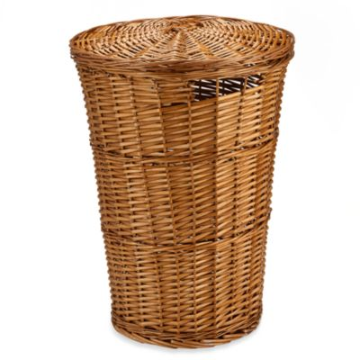 Redmon Collection Round Willow Hamper in Honey