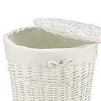 Redmon Collection Round Willow Hamper Gingham Liner in White