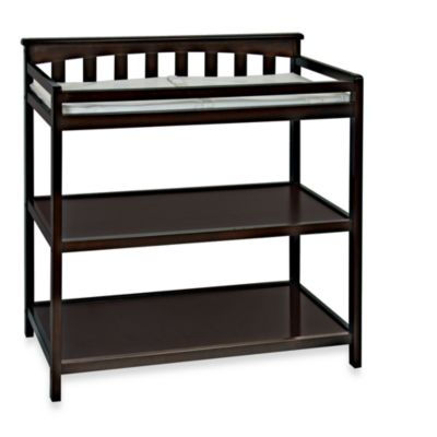 Child Craft London Euro Flat Top Changing Table in Jamocha