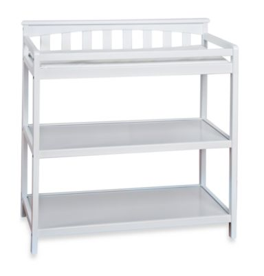 Child Craft London Euro Flat Top Changing Table in White