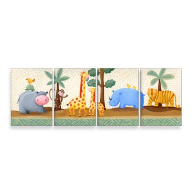 Jungle Friends Wall Hanging - Set of 4