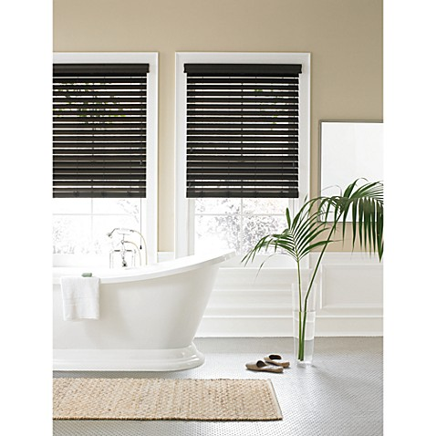 Buy Real Simple 174 Faux Wood Window Blind From Bed Bath