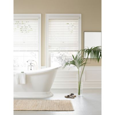 Real Simple® Faux Wood 23-Inch by 48-Inch Window Blind in Alabaster