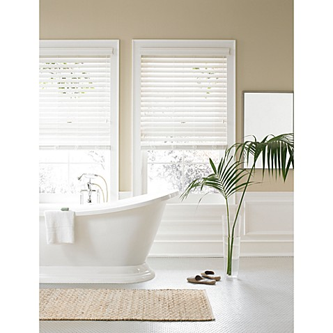 Real Simple® Faux Wood 23-Inch by 72-Inch Window Blind in Silk White