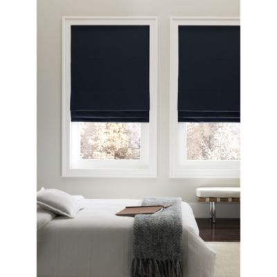 Real Simple® Cordless 31-Inch Fabric Roman Shade in Navy