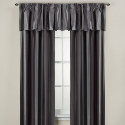 Otello Stripe Window Valance in Silver