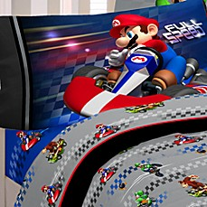 Super Mario Brothers Mario Kart Wii® Twin Sheet Set
