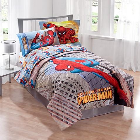 Marvel 174 Spider Man Twin Comforter Set Bed Bath Amp Beyond