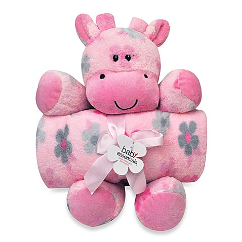 AD Sutton Plush Giraffe with Blanket in Pink
