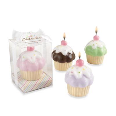 Kate Aspen® Sweet Celebration Cupcake Candles (Set of 4)