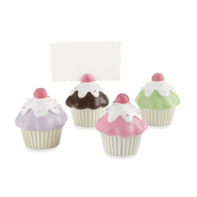 Kate Aspen® Cupcake Place Card/Photo Holder (Set of 4)