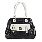 timi & leslie® Sophia Satchel Diaper Bag in Black & White