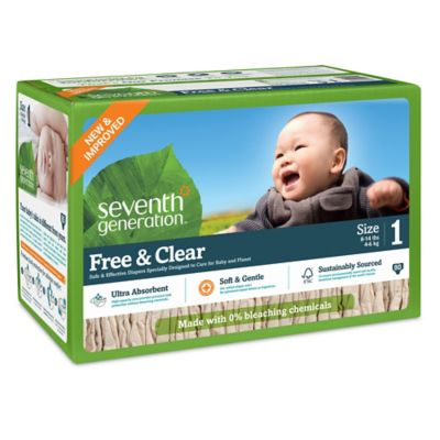 Diapering > Seventh Generation™  Free & Clear Stage 1 80-Count Disposable Diapers Super Jumbo Box