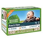 Seventh Generation™ Free & Clear Stage 1 80-Count Disposable Diapers Super Jumbo Box