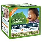 Seventh Generation™ Free & Clear Disposable Diapers Super Jumbo Box - Stage 3 (62-Count)
