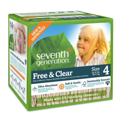 Diapering > Seventh Generation™  Free & Clear Stage 4 54-Count Disposable Diapers Super Jumbo Box