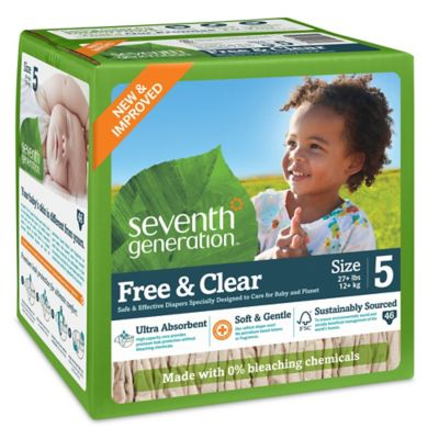 Diapering > Seventh Generation™  Free & Clear Stage 5 46-Count Disposable Diapers Super Jumbo Box