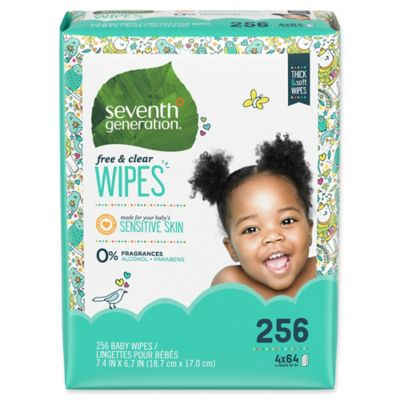 Diapering Essentials > Seventh Generation™ Free & ClearBaby Wipes (256-Count)