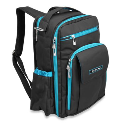 Ju-Ju-Be® Be Right Back Backpack Style Diaper Bag in Black & Teal