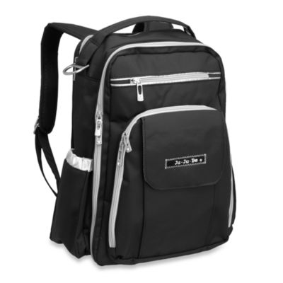 Ju-Ju-Be® Be Right Back Backpack Style Diaper Bag in Black & Silver