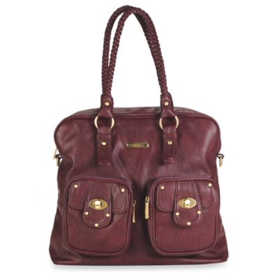 Timi & Leslie Rachel Satchel in Burgundy