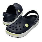 Crocband II Kids in Navy/Citrus