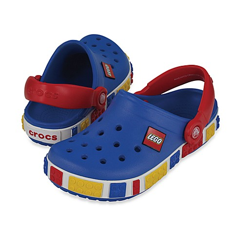 Crocband™ Kids LEGO Size 4-5 Clog in Sea Blue/Red