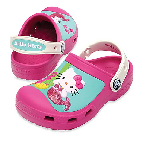 Creative Crocs Hello Kitty® Clog in Fuchsia/Oyster