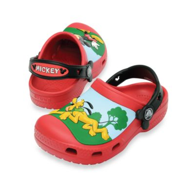Creative Crocs Size 6-7 Mickey Clog in Red and Black