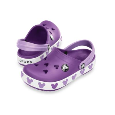 Crocband™ Mickey II Kids in Dahlia/Iris